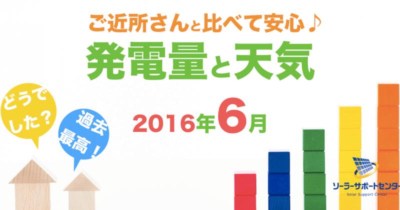岐阜三重愛知2016年6月の発電量