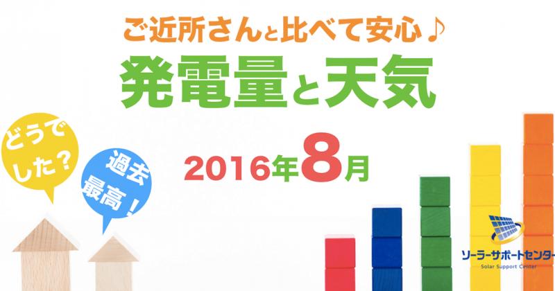 岐阜三重愛知2016年8月の発電量