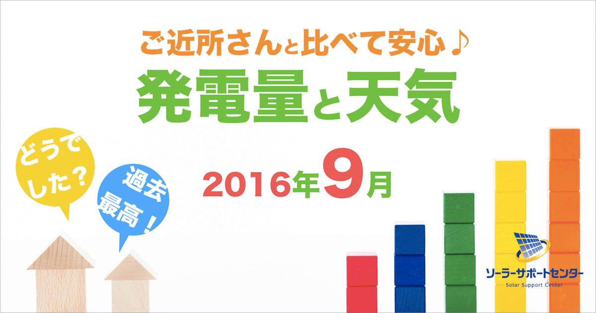 岐阜三重愛知2016年9月の発電量