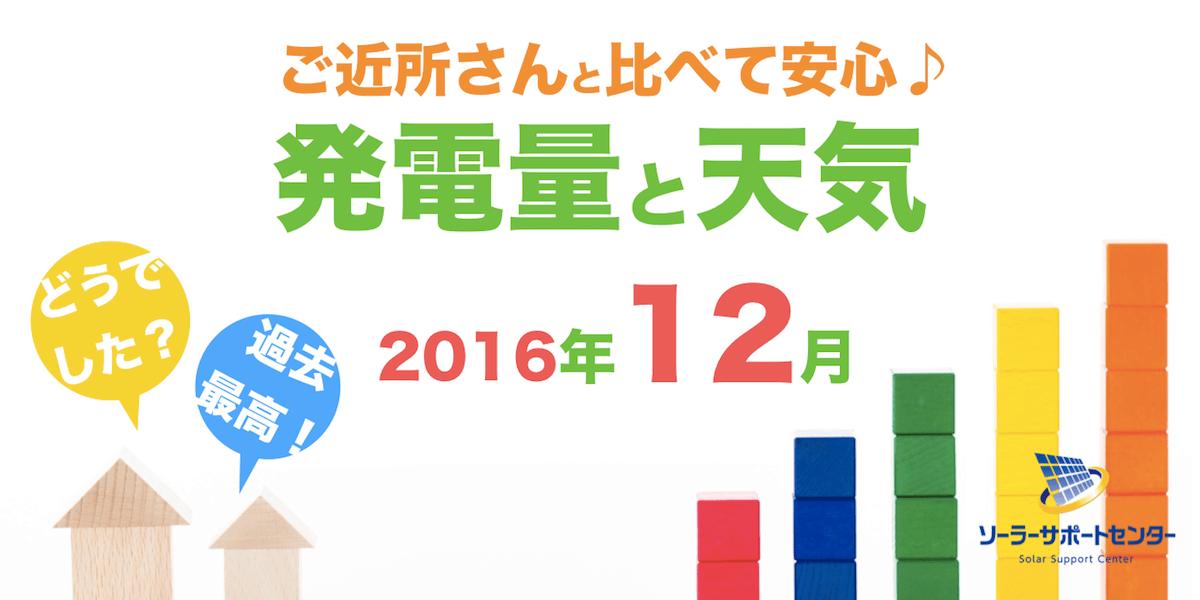 岐阜三重愛知2016年12月の発電量