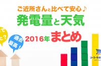 岐阜三重愛知2016年の発電量まとめ
