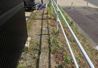 クラピアを植栽する前の風景