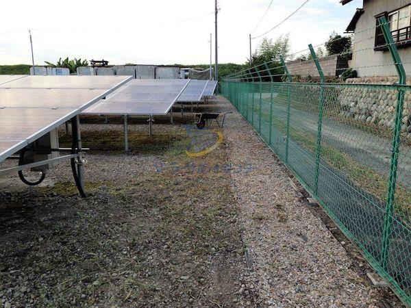太陽光発電所の草刈り後1