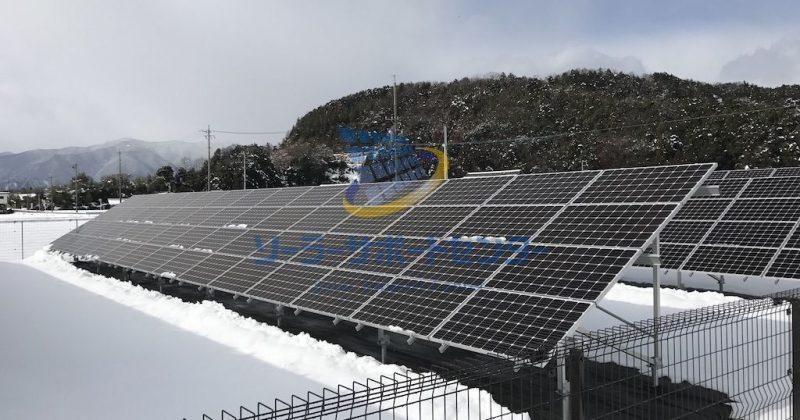 【雪下ろし】野立て太陽光発電メンテナンス事例・岐阜県揖斐郡O様