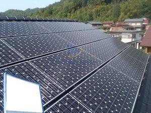 岐阜県山県市N様の発電所(屋根)の外観写真