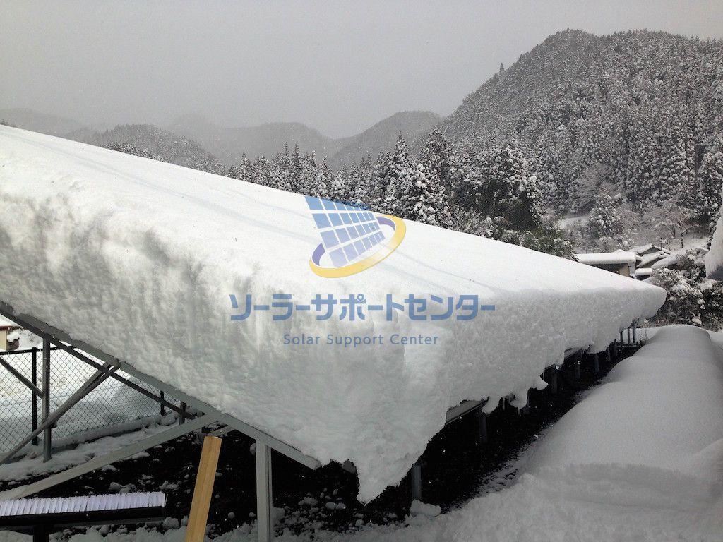 【雪下ろし】野立て太陽光発電メンテナンス事例・岐阜県関市T様