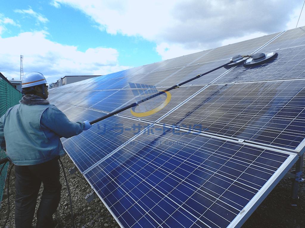 【パネル洗浄】野立て太陽光発電メンテナンス事例・愛知県稲沢市M社様