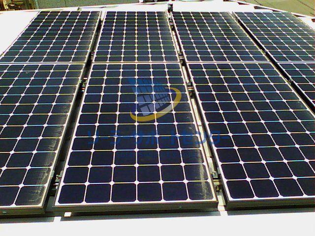サーモグラフィー比較用太陽光パネル写真