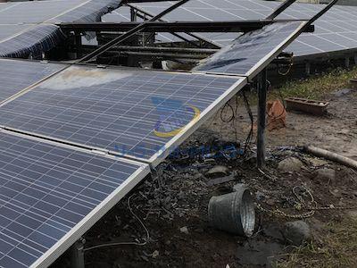 火事が発生した太陽光発電所