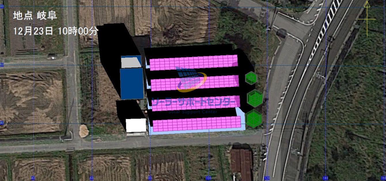 太陽光発電のシミュレーション3DCAD画像