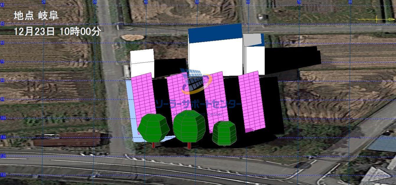 太陽光発電のシミュレーション3DCAD