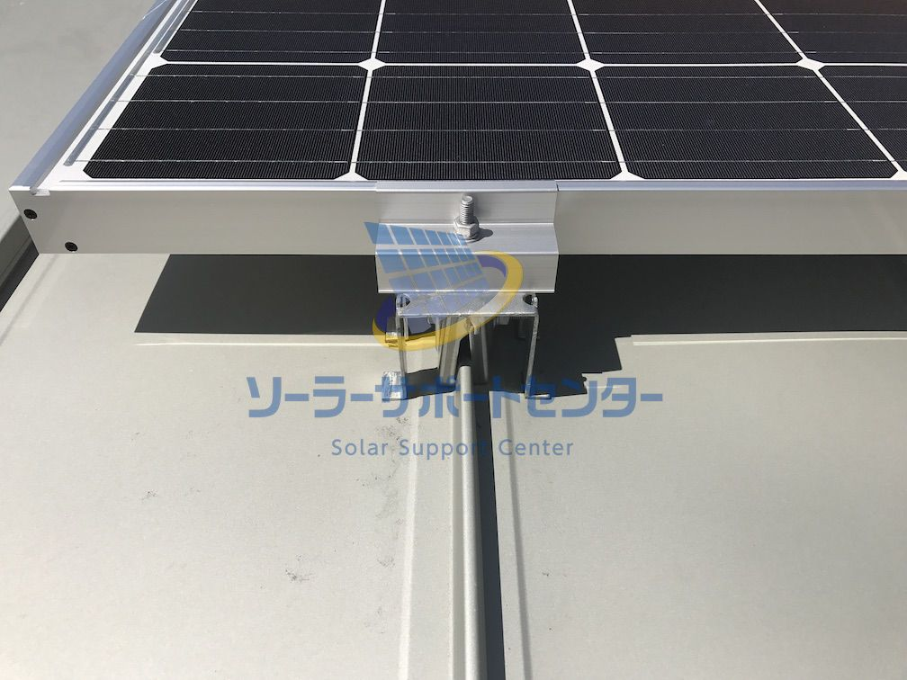 太陽光パネルを固定する架台