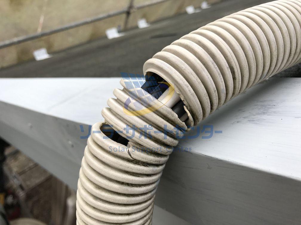 破損した配管