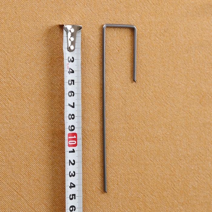防草シート敷設用のJ字ピン