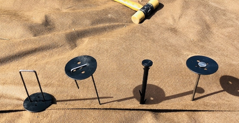 ピンは土質や用途で選ぶ